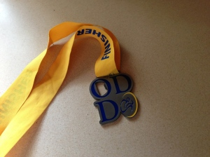 The front of the medal...